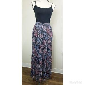Maeve Anthropologie Boho Long Floral Skirt